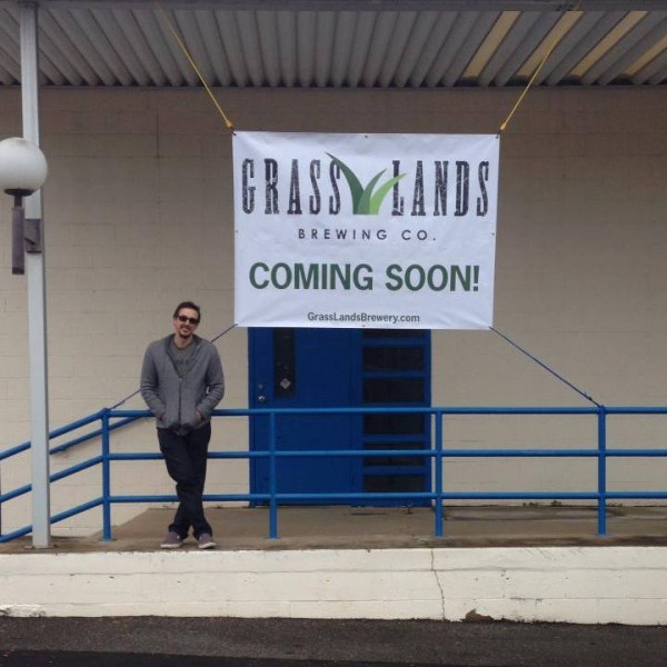GrassLands Brewing Company President Gabe Grass at the brewery's future home